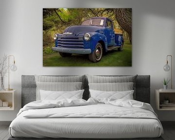 Blue Chevy Pickup Truck van Bill Posner