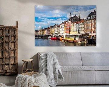 Nyhavn in der Stadt Kopenhagen, Dänemark sur Rico Ködder