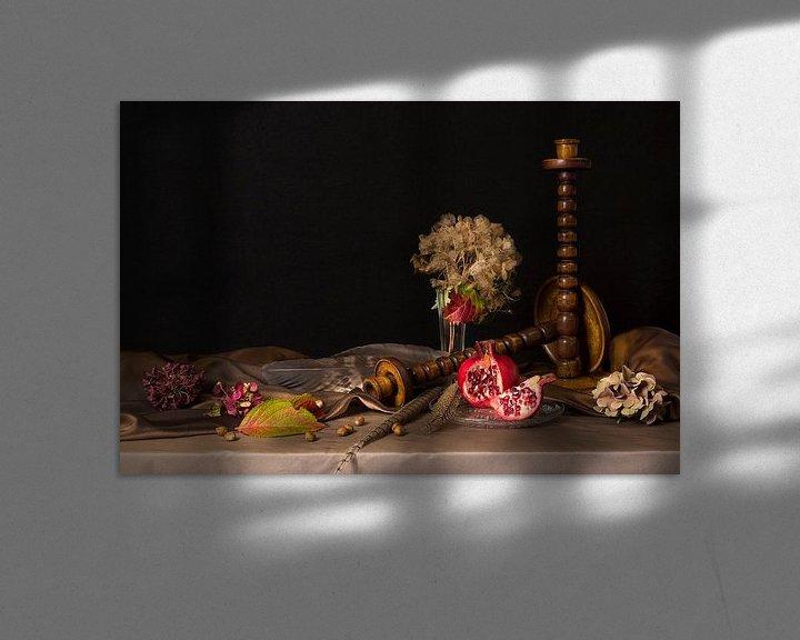 Sfeerimpressie: Stilleven met granaatappel van Fleur Halkema