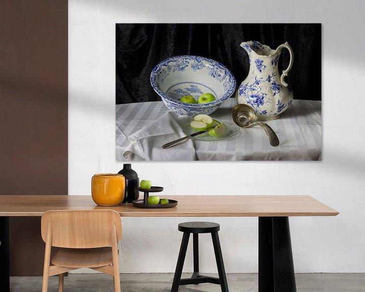 Sfeerimpressie: Stilleven met groene appels van Fleur Halkema