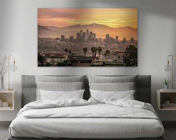 Lever de soleil sur Los Angeles sur Photo Wall Decoration