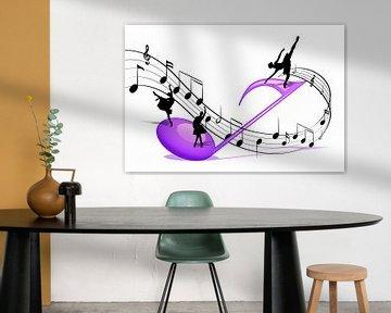 Dans op de bladmuziek