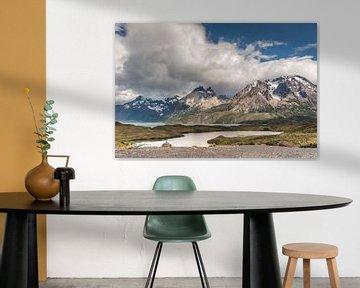 Meer in Torres del Paine von Trudy van der Werf