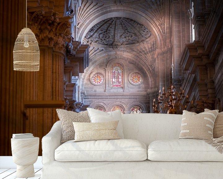 Sfeerimpressie behang: Malaga Cathedral van Maarten Jacobi