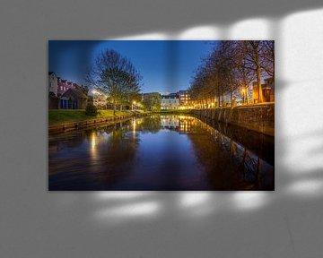 Réflexion Oude Vissershaven - Bergen op Zoom sur Stefan Fokkens