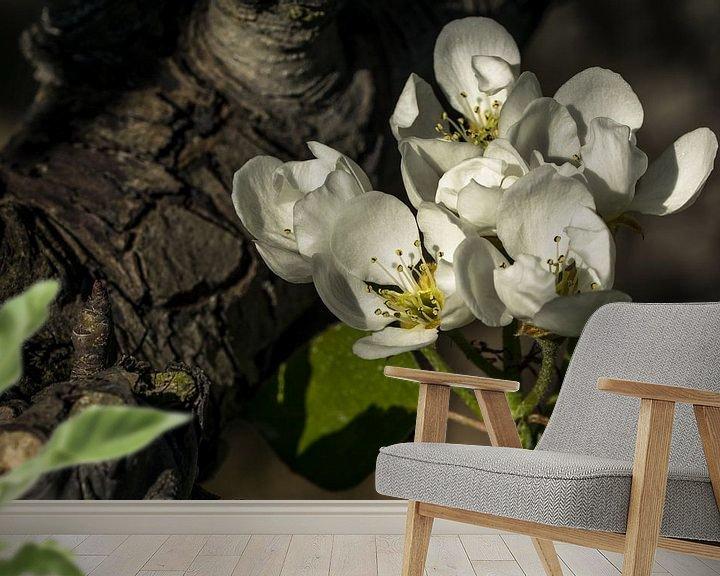 Sfeerimpressie behang: Perenbloesem van Leo Langen