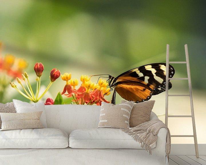 Sfeerimpressie behang: Vlinder van Barend de Ronde