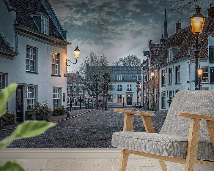 Sfeerimpressie behang: Havik Amersfoort van Herman de Raaf