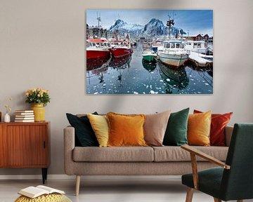 Boten in de haven van Svolvaer van Tilo Grellmann | Photography
