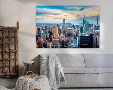 New Yorkse skyline van bovenaf van Sascha Kilmer