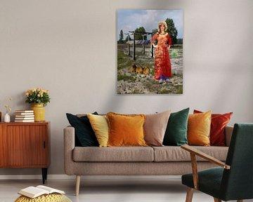 Het tempeltje van Barger Oosterveld van Fleksheks Collages