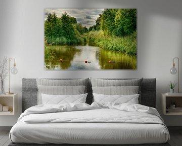 Stilleven van rivier en groen van Astrid Thomassen