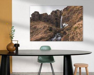 Icelandic Waterfall van Andreas Jansen