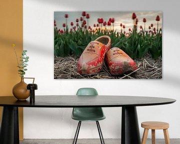 Klompen, tulpen en zonsondergang von Jenco van Zalk