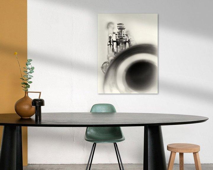 Sfeerimpressie: Solo... (muziek, muziekinstrument, trompet, jazz) van Bob Daalder