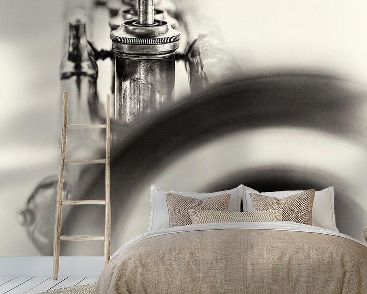 Sfeerimpressie behang: Solo... (muziek, muziekinstrument, trompet, jazz) van Bob Daalder