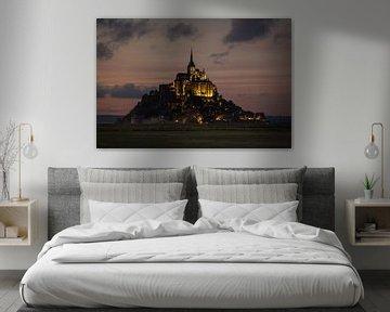 Mont Saint-Michel in de schemering
