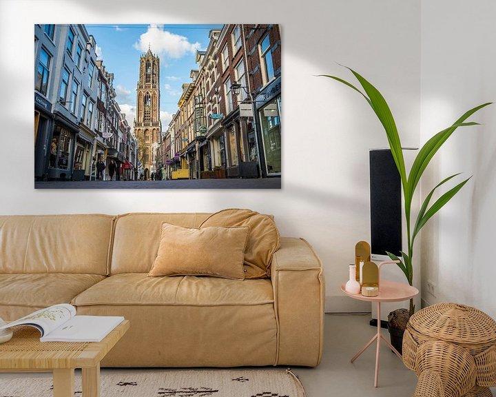 Beispiel: De Domtoren met de Zadelstraat in Utrecht von De Utrechtse Internet Courant (DUIC)