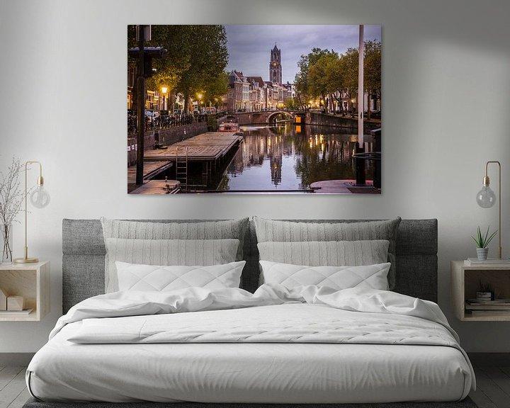 Sfeerimpressie: De Domtoren met Oudegracht in Utrecht van De Utrechtse Internet Courant (DUIC)