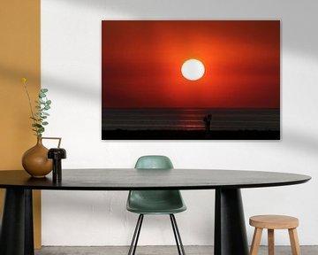 Zonsondergang Afsluitdijk von Wouter Glashouwer