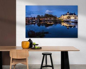 Prachtige weerspiegeling van de Rijksmunt in Utrecht