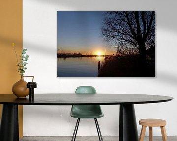 Prachtige zonsondergang in Stavoren van Wouter Glashouwer