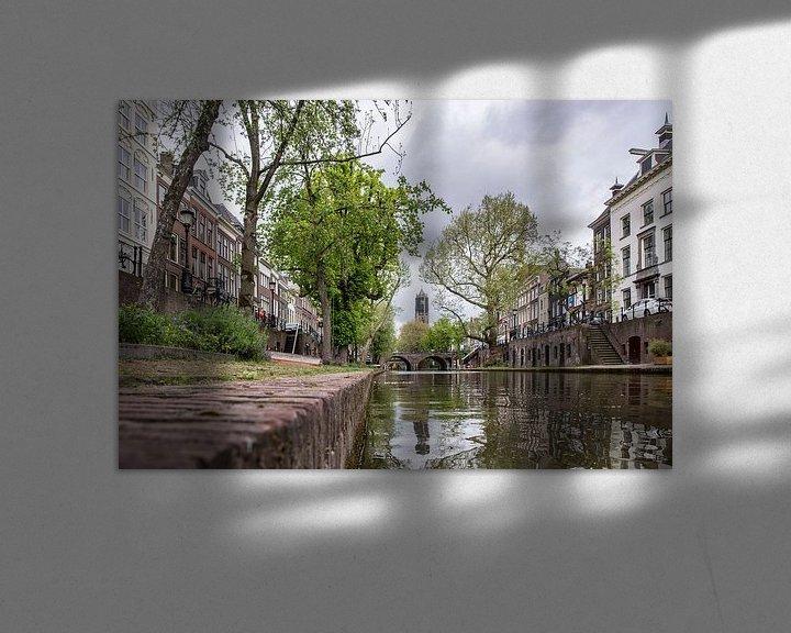 Sfeerimpressie: De Domtoren vanaf de Oudegracht van De Utrechtse Internet Courant (DUIC)