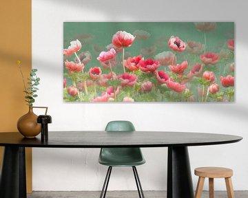 Rode anemonen van Fionna Bottema