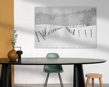 Bospad winter van Tess Smethurst-Oostvogel