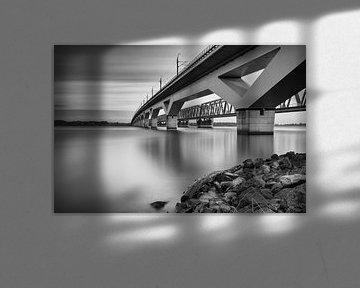Moerdijk spoorbruggen over het Hollands Diep von Jan van der Vlies
