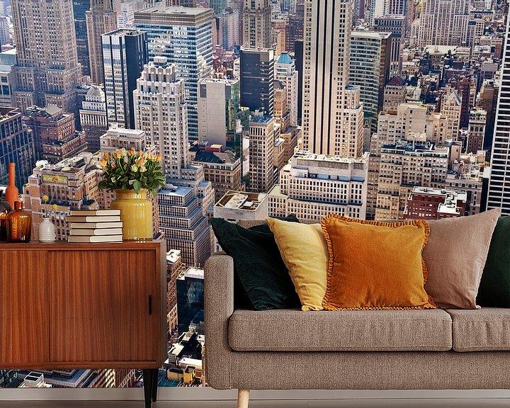 Sfeerimpressie behang: New York from above van Sander van Leeuwen