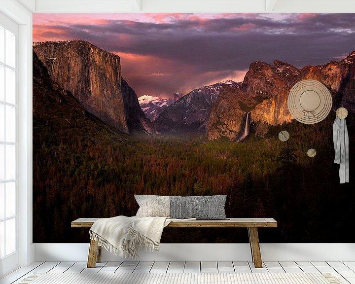 Sfeerimpressie behang: Yosemite Valley van Jasper Verolme