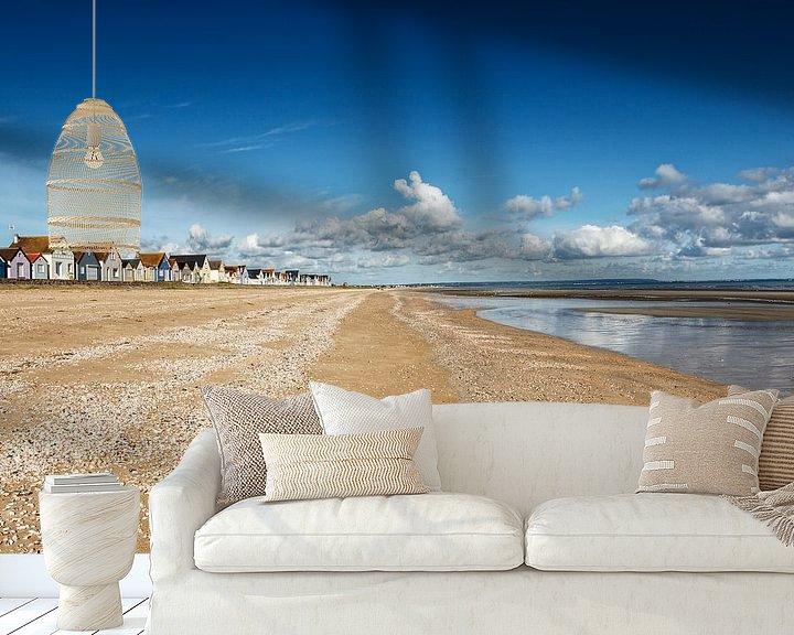 Sfeerimpressie behang: Strand van Rob van der Teen