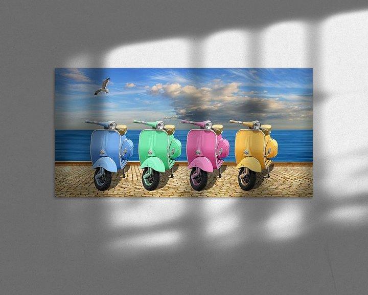 Sfeerimpressie: Kleurrijke scooters van Monika Jüngling