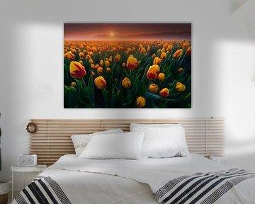 Gelbe Tulpen von Albert Dros