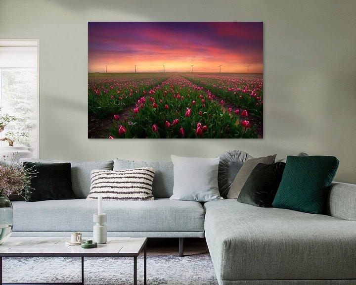 Sfeerimpressie: Tulpen en Windmolens van Albert Dros