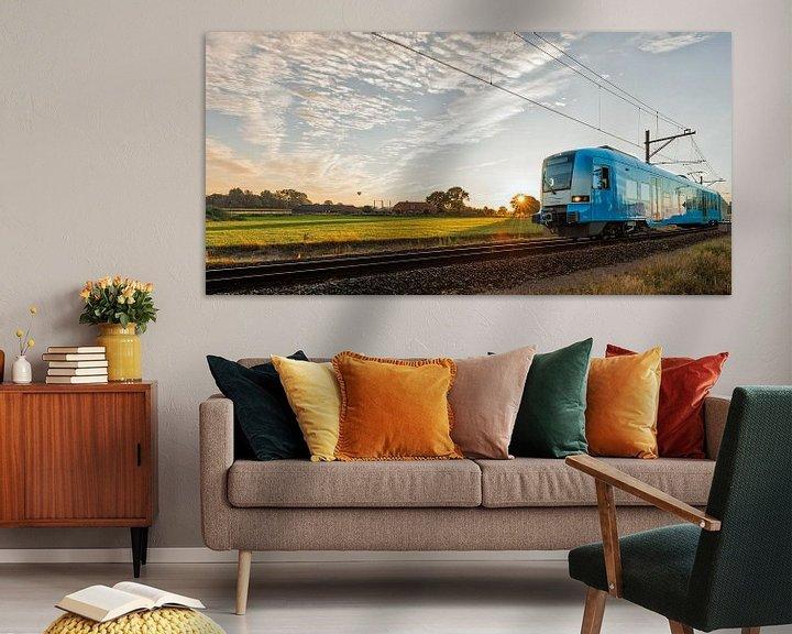 Impression: Le train dans le paysage hollandais: Barneveld-Noord sur John Verbruggen