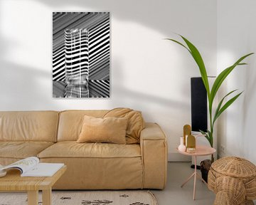Vage vervormende diagonale lijnen von Wim Stolwerk