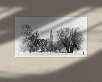Blik op het Brabantse kerkdorp Nispen  von Fotografie Jeronimo