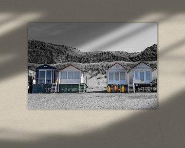 Strandhuizen in Vlissingen von Kim de Been
