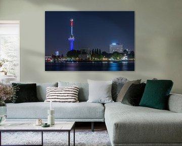 De Euromast in Rotterdam in Rood, Wit, Blauw  van MS Fotografie | Marc van der Stelt