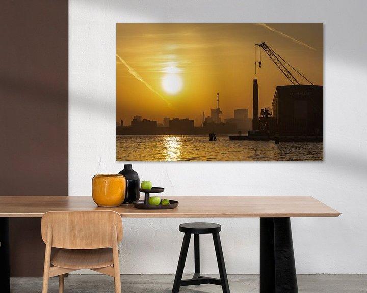 Sfeerimpressie: De zonsopkomst vanaf het RDM-terrein in Rotterdam van MS Fotografie   Marc van der Stelt