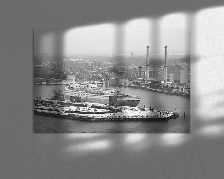 Sfeerimpressie: Het ss Rotterdam in Rotterdam in de sneeuw van MS Fotografie | Marc van der Stelt