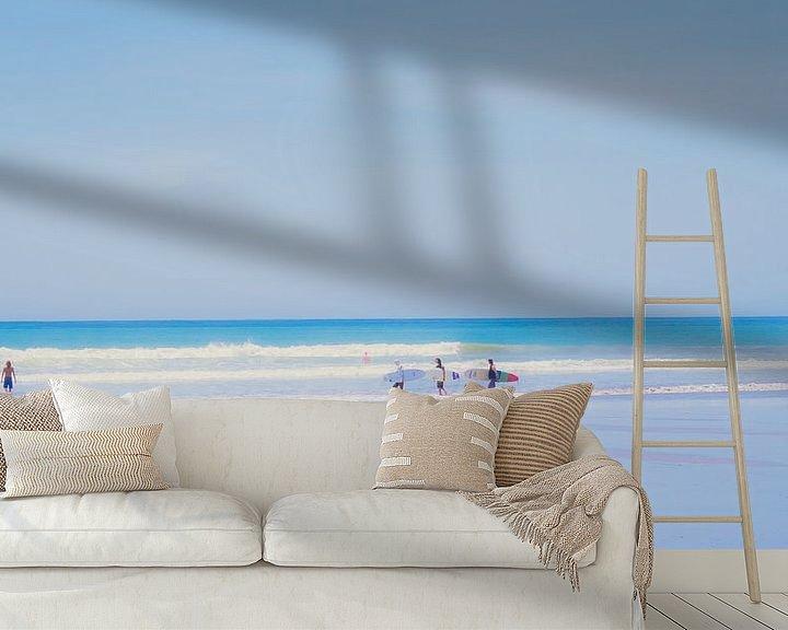 Sfeerimpressie behang: At the beach (5) van Rob van der Pijll