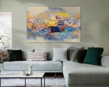 Hamburg Queen Mary 2 von Peter Roder