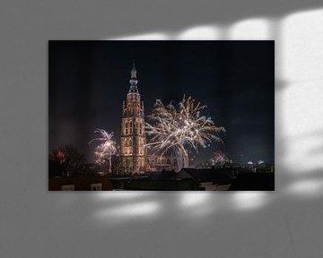Vuurwerk bij de Grote Kerk van Breda van Esmeralda holman