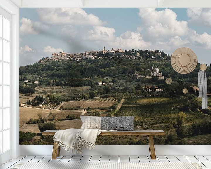 Sfeerimpressie behang: San Biagio in Montepulciano. van Roman Robroek