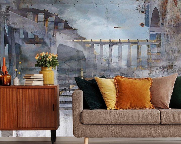 Sfeerimpressie behang: A drive through Amsterdam van Sjoerd Smit