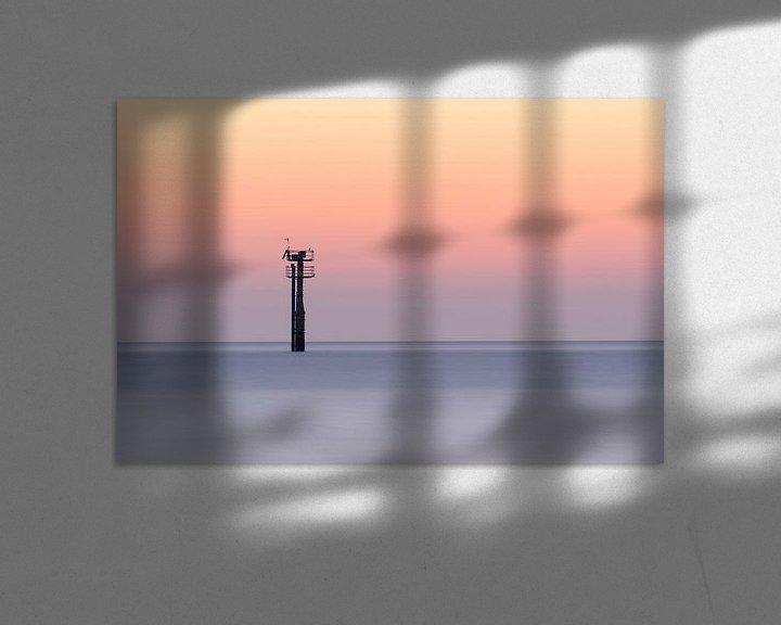 Sfeerimpressie: Toren in de Noordzee gezien vanaf strand Haamstede van Jos Pannekoek