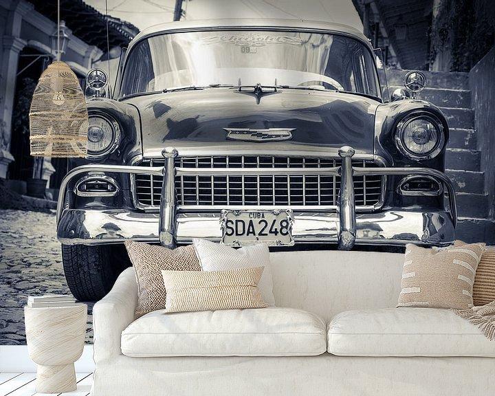 Sfeerimpressie behang: Cubaanse Auto van Capture the Light